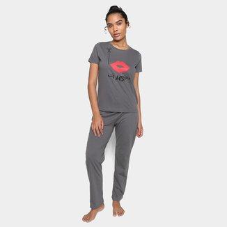 Pijama Longo Volare Kiss Feminino