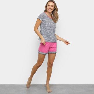 Pijama Lupo Loba Listrado Feminino
