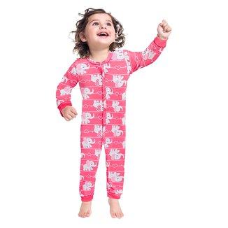 Pijama Macacão Bebê Kyly Elefantinha Brilha No Escuro Feminina