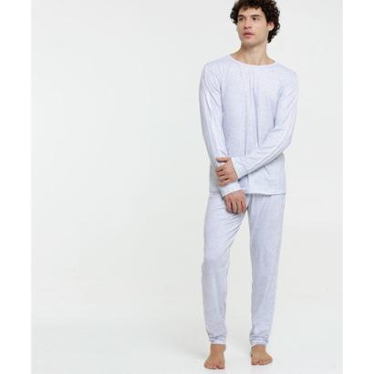 Pijama Masculino Listras Manga Longa
