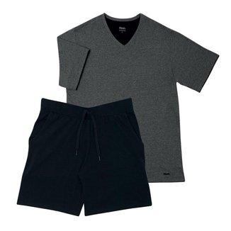 Pijama Mash Curto Liso Masculino