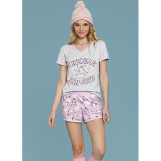 Pijama Short Doll Unicornio  0131035  Feminino