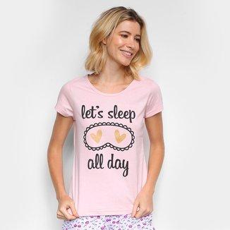 Pijama Three Hands Curto Let´s Sleep Feminina