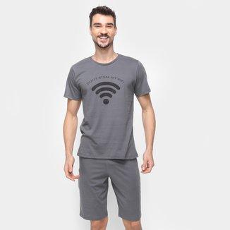 Pijama Volare Curto Wi-fi Masculino