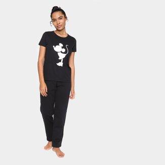 Pijama Volare Longo Minnie + Calça Feminino