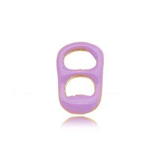 Pingente Mini Lacre Gazin Esmaltado Color Banhado a Ouro 18K