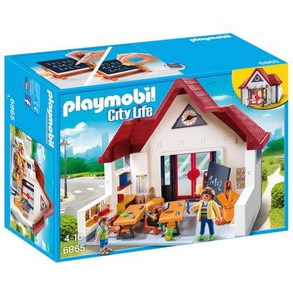 Boneco Playmobil Mãe Em Jeans-Listra Camisa E Jaqueta-Family Dollhouse City