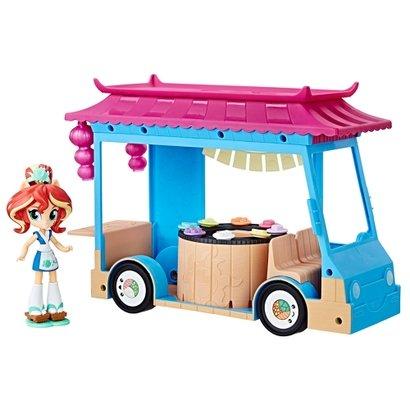 Playset My Little Pony - 25 cm - Equestria Girls - Food Truck de Sushi - Sunset Shimmer - Hasbro