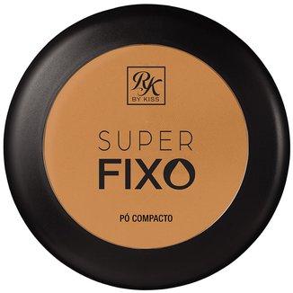 Pó Compacto RK By Kiss Super Fixo cor Cappuccino 15g
