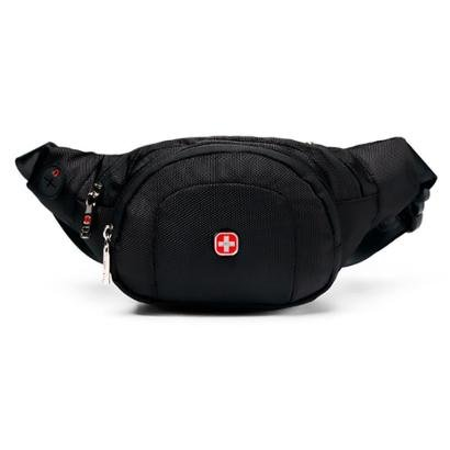 Pochete Crossgear Moderna sportswear Cintura com saída para Fone Masculina