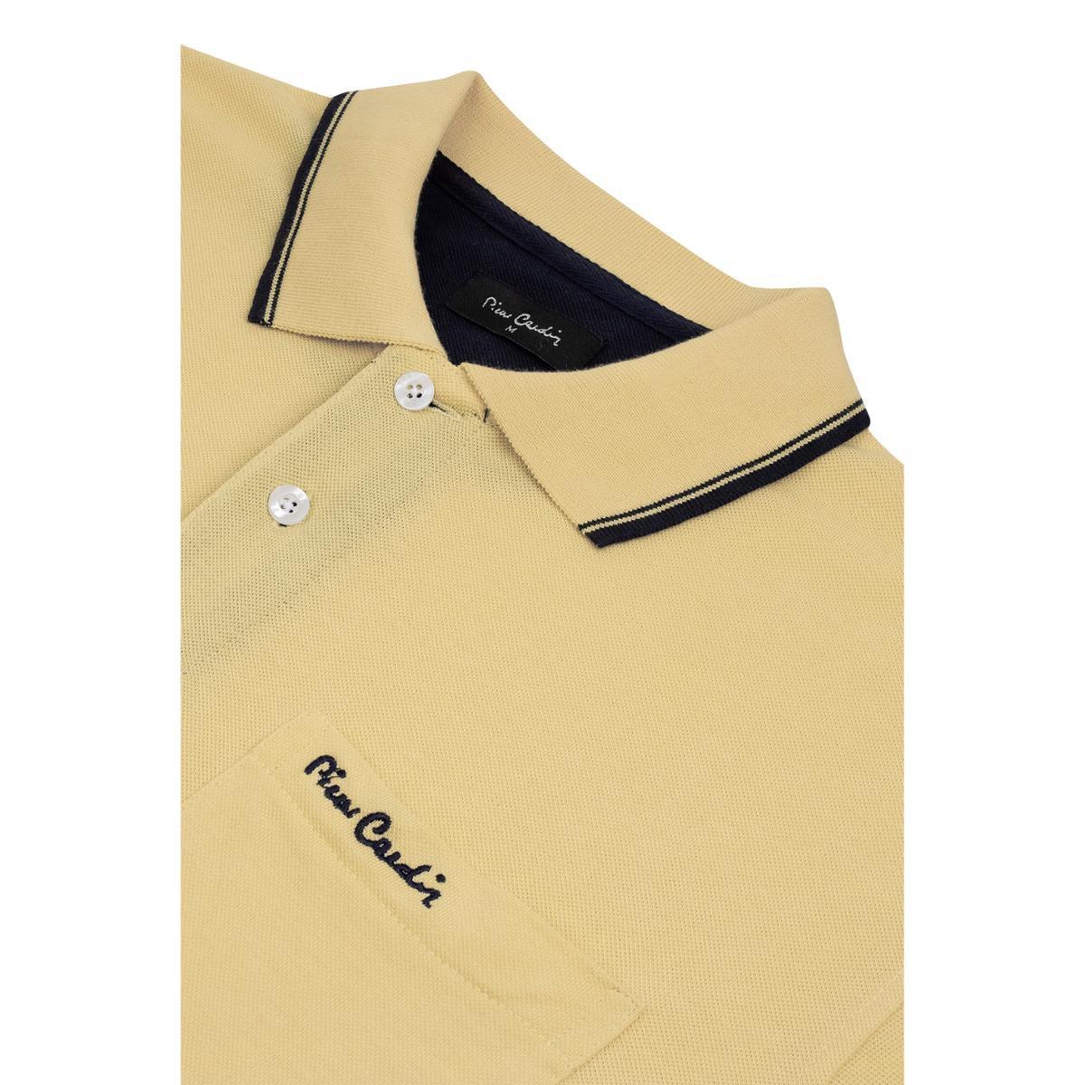 58b453b079 Polo Pierre Cardin Piquet Com Bolso - Amarelo - Compre Agora