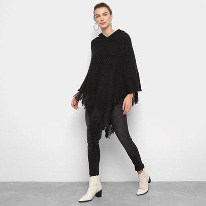 782a4fa9003d Poncho Lily Fashion Texturizado Com Franjas-Feminino ...