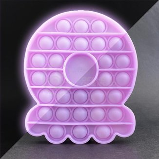 Pop It Brilha no Escuro Fluorescente Polvo Fidget Toy Brinquedo Silicone Anti Stress Sensorial