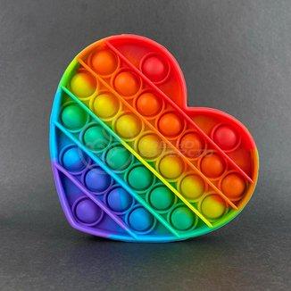 Pop It Coração Fidget Toy Brinquedo Silicone Anti Stress Estourar Bolha Sensorial