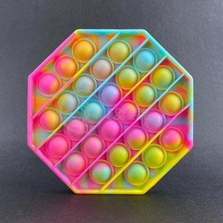 Pop It Octogonal Fidget Toy Brinquedo Silicone Anti Stress Estourar Bolha Sensorial