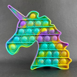 Pop It Unicórnio Fidget Toy Brinquedo Silicone Anti Stress Estourar Bolha Sensorial