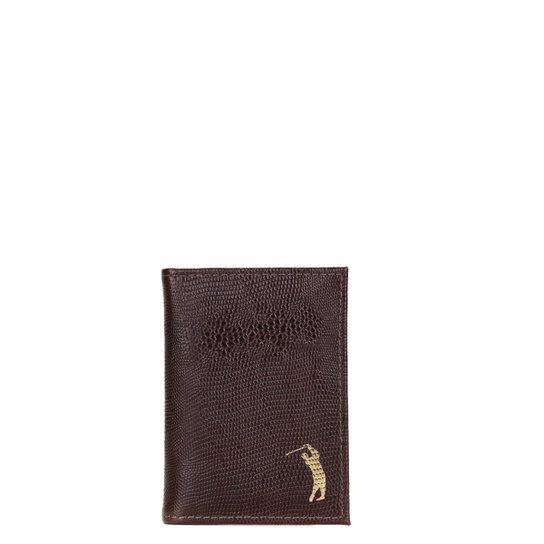 Porta Cartão Couro Aleatory Básico Masculino - Marrom
