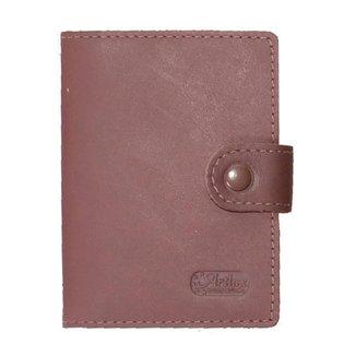Porta Cartão Unisex de Couro