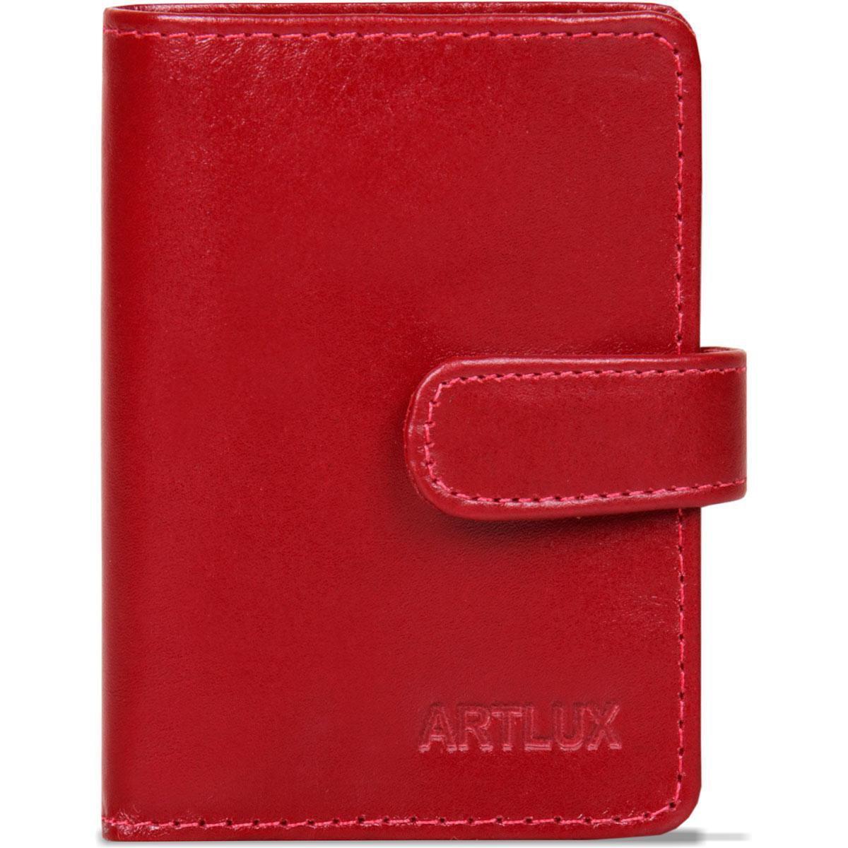 Porta Cartão/Notas de Couro - Vermelho