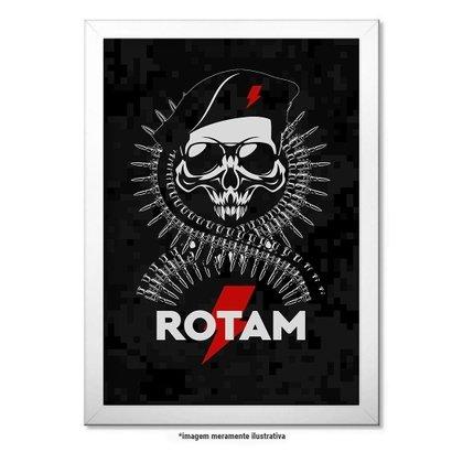 Poster Militar com Moldura - ROTAM