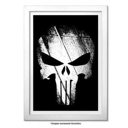 Poster Militar com Moldura The Punisher - O Justiceiro