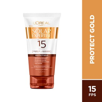 Protetor Bronzeador Solar Expertise Protect Gold FPS 15 - 120ml