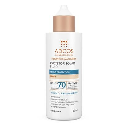 Protetor Solar Adcos Fluid Shield Protection Peach