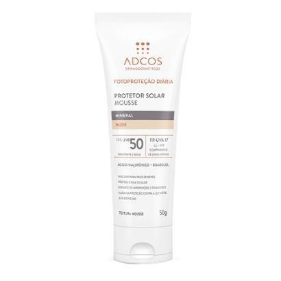 Protetor Solar Adcos Fotoproteção Mousse Mineral Nude