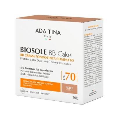 Protetor Solar Anti-idade Ada Tina Biosole BB Cake FPS 70 Noce