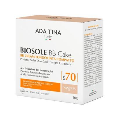 Protetor Solar Anti-idade Ada Tina Biosole BB Cake FPS 70 Vaniglia