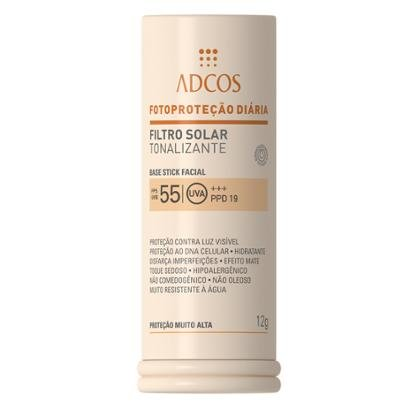 Protetor Solar Base Stick Tonalizante FPS 55 Adcos Peach