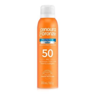Protetor Solar Cenoura & Bronze Aerossol FPS50 200ml