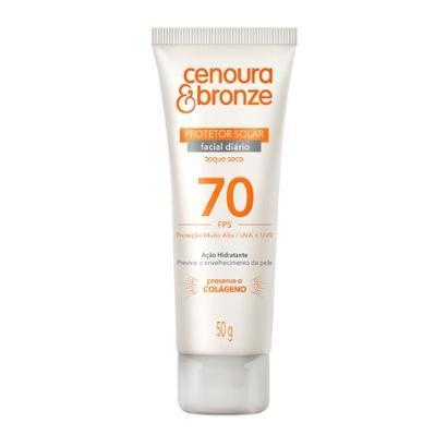 Protetor Solar Cenoura & Bronze Facial FPS70 50g