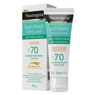 Protetor Solar com Cor Neutrogena - Sun Fresh Oily Skin FPS 70 Clara