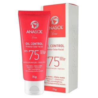Protetor Solar Facial Anasol - Viso Oil control FPS75 75g