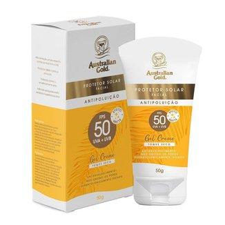 Protetor Solar Facial Australian Gold Antipoluição FPS50 50g