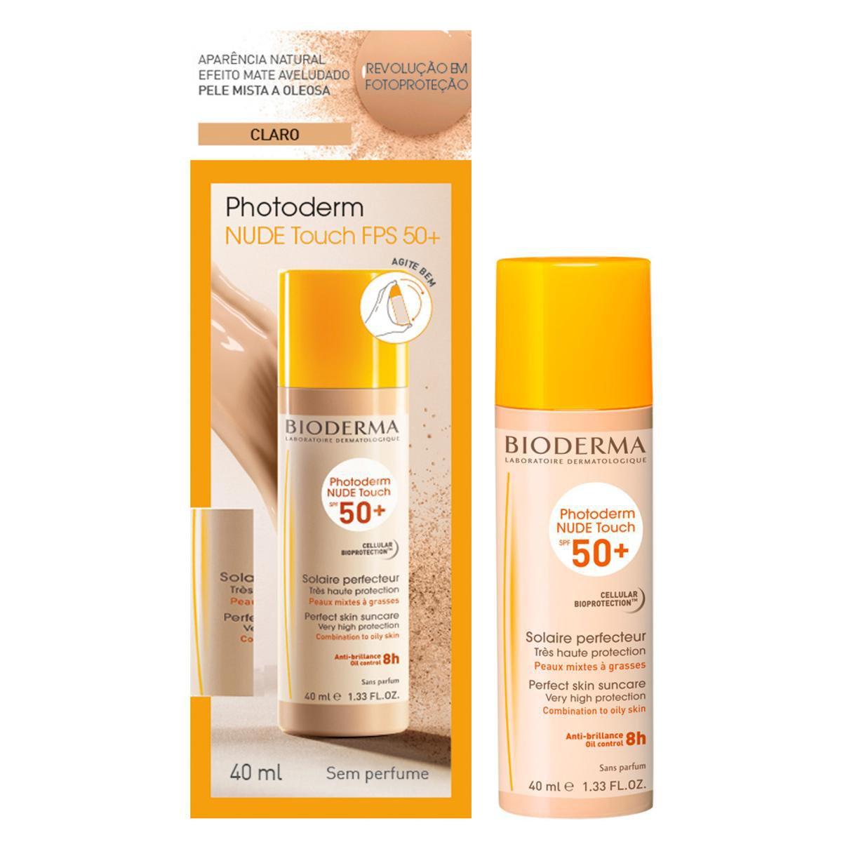 Protetor Solar com Cor Bioderma Photoderm NUDE Touch Cor