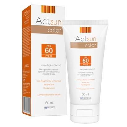 Protetor Solar Facial com Cor de Base Fps60 Actsun Color 60ml