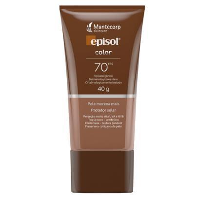 Protetor Solar Facial Mantecorp Skincare Fps 70 Episol Color Morena Mais