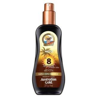 Protetor Solar Fps 8 Australian Gold Instant Bronzer 237 ml
