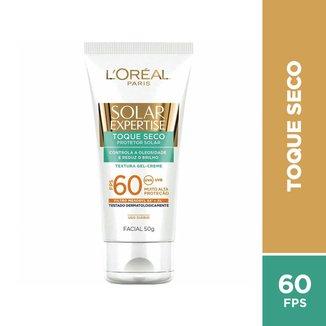 Protetor Solar L'Oréal Paris Solar Expertise Facial Toque Seco FPS 60 - 50g