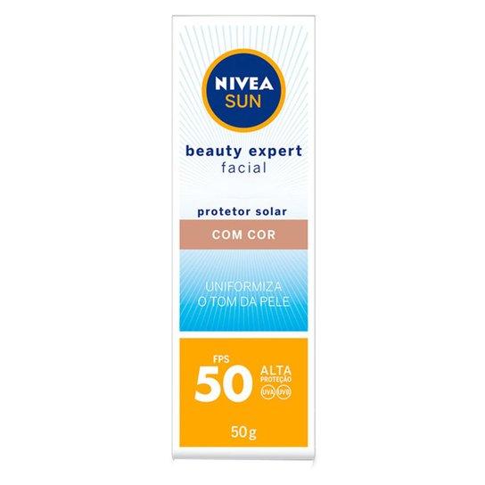 Protetor Solar Nivea Sun Beauty Expert Facial com Cor FPS50 50g - Incolor