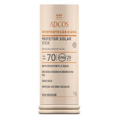 Protetor Solar Stick IncolorFPS 70 Adcos 12g