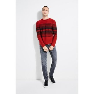 Pullover Guess Pixel Space Jacquard Primal Masculino