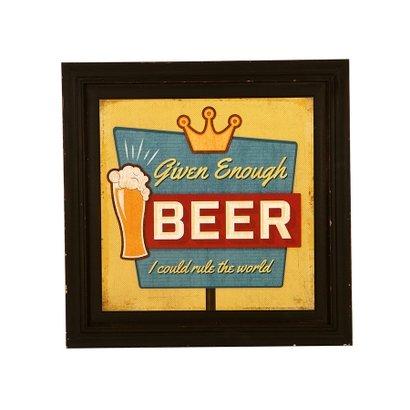 Quadro Decorativo Vintage de Parede Beer