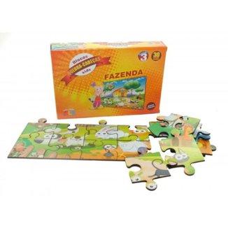 Quebra Cabeças Fazenda 30 Peças em Madeira Brinquedos Educativos De Montar Peças Animais Kids