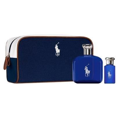 Ralph Lauren Polo Blue Kit – Perfume Masculino EDT + Miniatura + Nécessaire Kit - Masculino-Incolor
