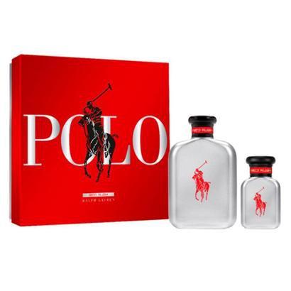 Ralph Lauren Polo Red Rush Kit – Perfume Masculino EDT + Miniatura Kit - Masculino-Incolor