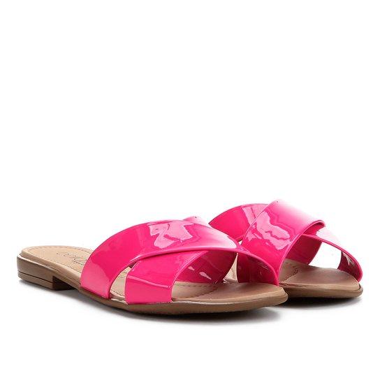 Rasteira Beira Rio Tiras Cruzadas - Pink