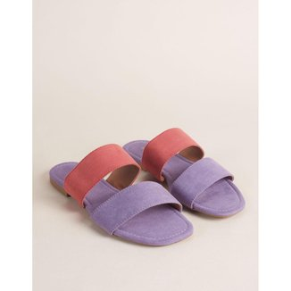 Rasteira Bicolor Soft - Violeta 35 Via Mia